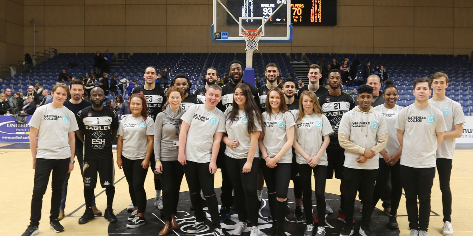 Business students on the ball with Newcastle Eagles