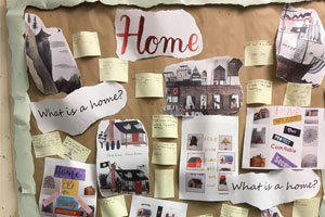 Adrift Project Home Board in Cheshire School