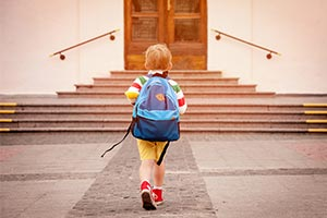 child going back to school