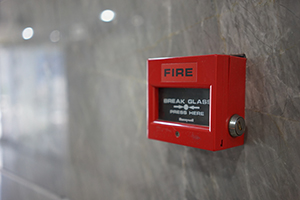 Fire safety alarm in school