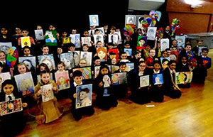 100 young artists at Stockport Grammar Art Competition