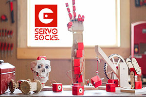 Servo Socks in action with robots