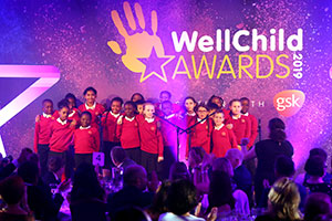 School choir at WellChild Awards