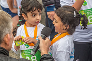 Step Up – two young girls at the run raising school funds