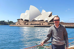 Stuart in Australia to ease the school staff shortages in London