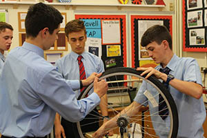2 boys from Neatherd High School desiging for On your Bike