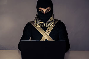 Anti-terror software terrorist on computer