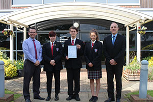 Lincroft Academy students receiving Artsmark Award