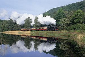 Train from The Lakeside & Haverthwaite Railway
