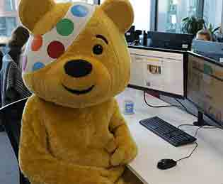 Pudsey Bear BBC Children in Need