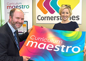 Simon and Melanie at Cornerstones Education launch