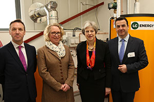 Theresa May at The Energy Centre at Berkshire College of Agriculture, Maidenhead