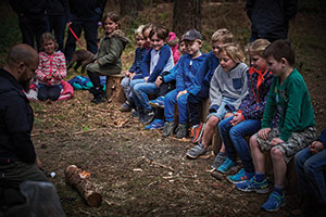 Children at Back to Wilderness in East Anglia