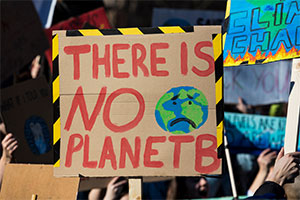 Attend protests for climate change with placards