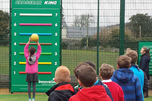 Playinnovation's Crossbar King activity in use in a school playground