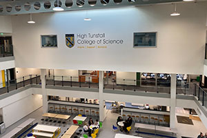 New school building interior space - High Tunstall College of Science
