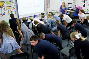 A class exercises: We must get children moving more to boost mental wellbeing