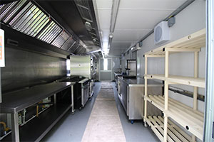 Temporary catering facilities for schools