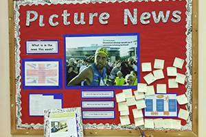 Picture News - a display board in school