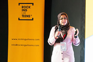Najwa Jawahar at the Rocking Ur Teens careers event