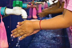 Children handwashing