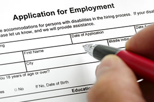 Teaching application form – a DBS check is carried out on new employees