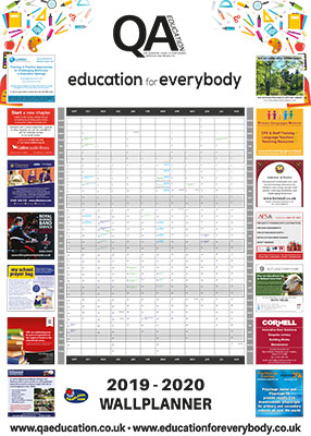 QA & Education For Everybody Wallplanner