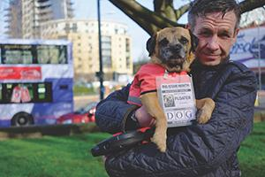 Former Big Issue North Vendor Alex and his dog Muttley