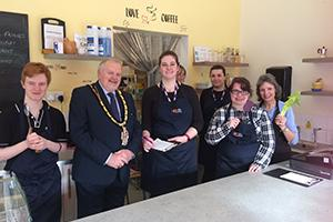 Young chefs cooking for Wokingham Mayor