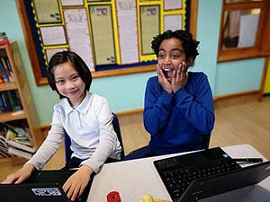 Britannia Village Primary in Newham celebrates its new status as a Centre of Excellence for ICT in Mathematics