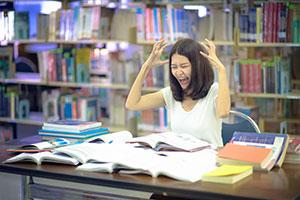 Woman dealing with Post-Exam Stress Disorder