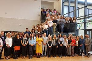 Group shot of Aberdeenshire's newest teachers