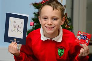 Local School Pupil Joey and his home made cards