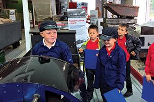 Children learning at Ravenglass Railway Museum