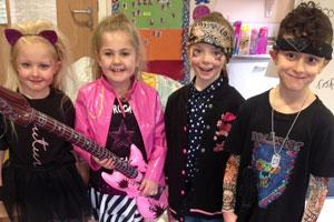 Primary Academy pupils dressed up for NSPCC